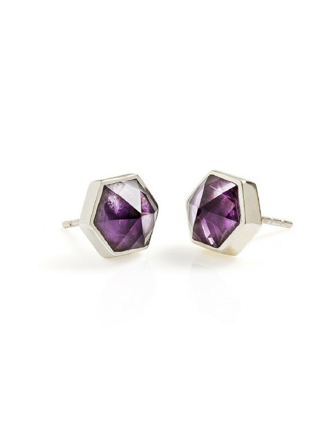 amethyst, silver, silver earrings, amethyst earrings, cathy pope jewellery