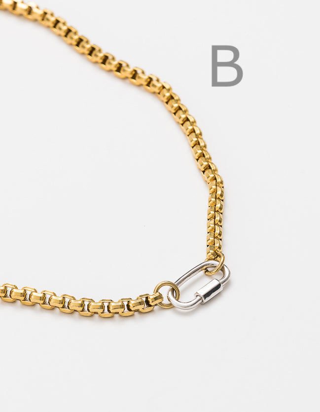 Snake Chain Gold Long/Short - add clasp