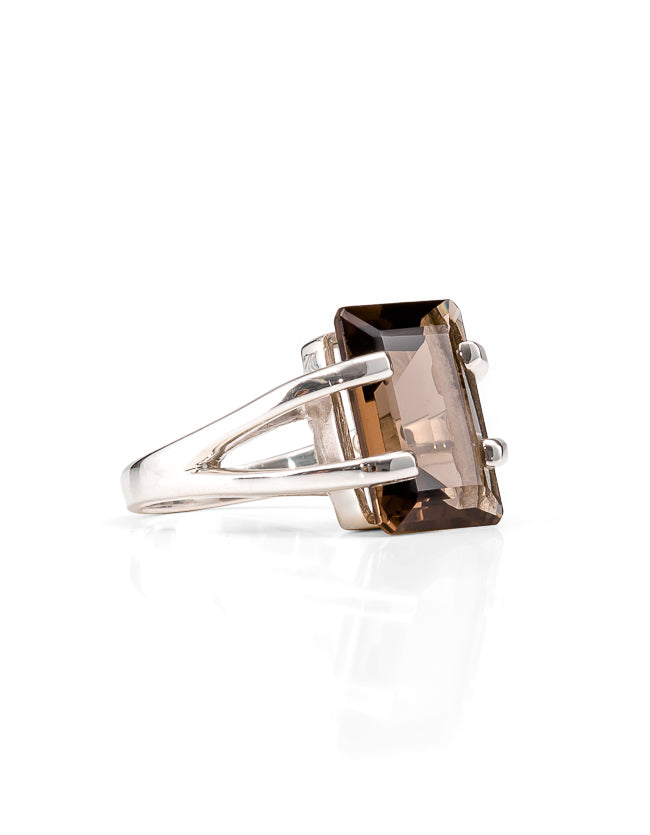 Amalfi Smokey Quartz Silver Ring