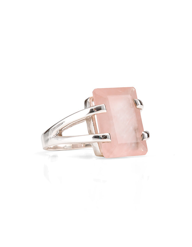 Amalfi Rose Quartz Silver Ring