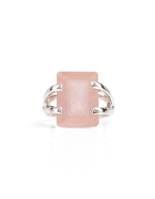 ring, gold ribg, rose quartz, rose quartz ring, statement ring, silver ring