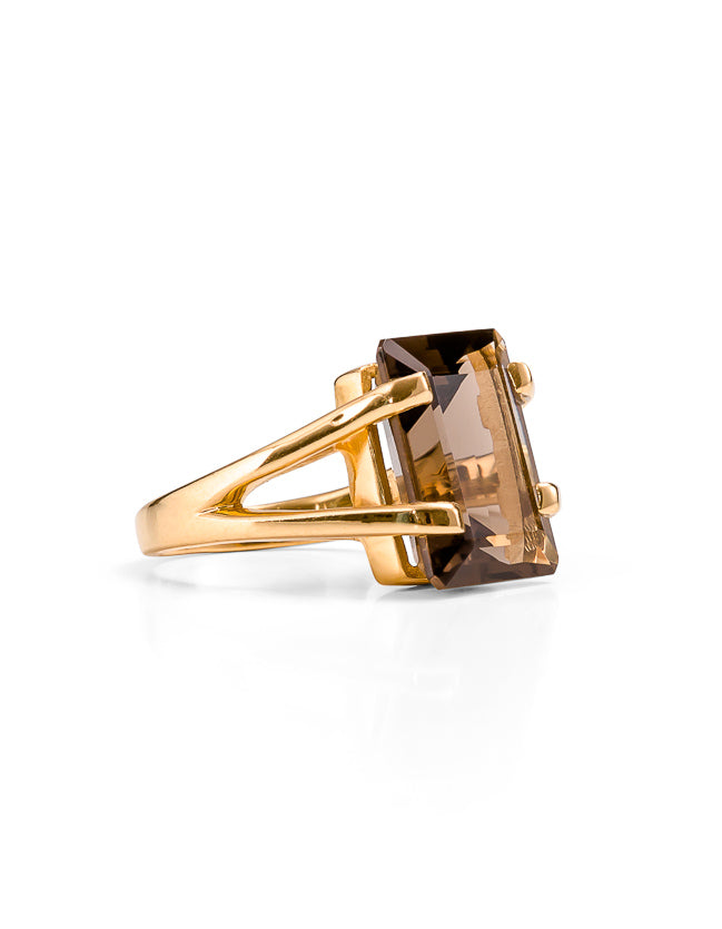 Amalfi Smokey Quartz Gold Ring