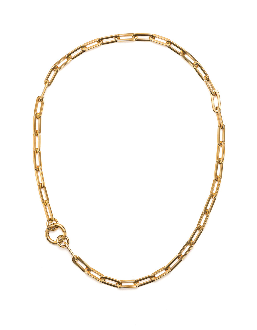 Yellow Gold Loop Necklace | Premium Gemstone Jewellery NZ | Cathy Pope