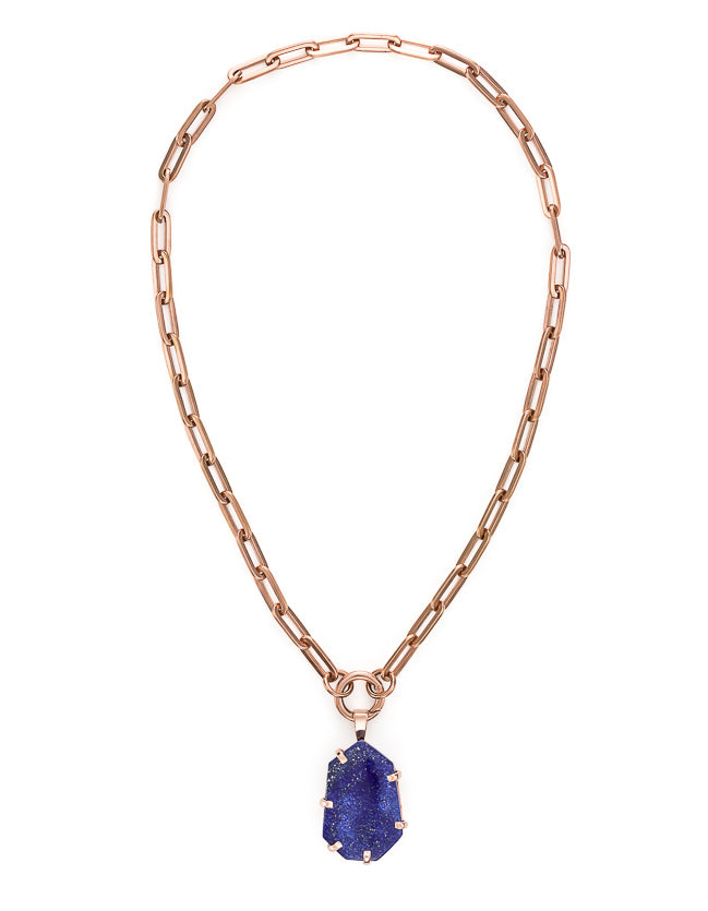 Lapis Rose Gold Amulet