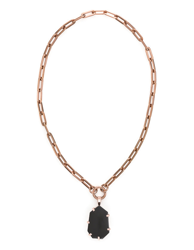 Onyx Rose Gold Amulet