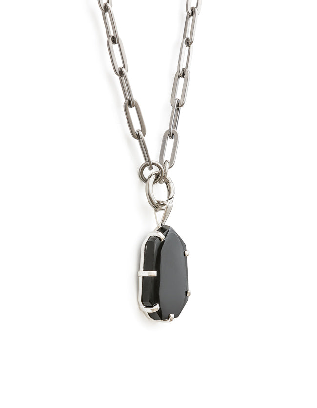 Onyx Silver Amulet
