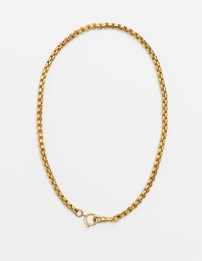 Wide Snake Chain Gold Dbl Catch - Long/Short