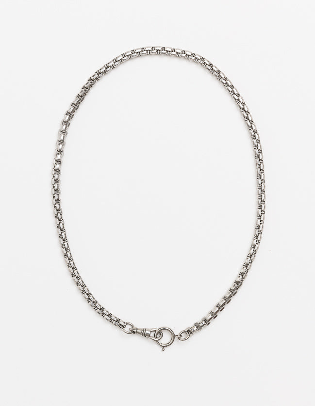 Snake Chain Silver Double Catch Long/Short