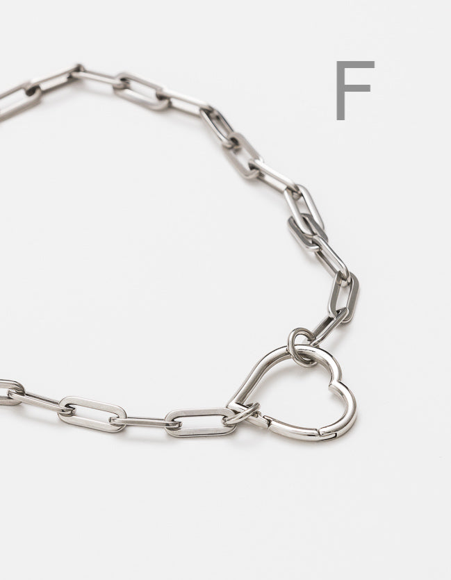 Silver Long Loop Chain Long/Short - combo clasp