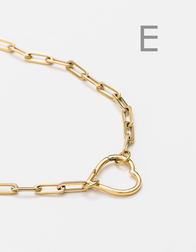 Gold Long Loop Chain Long/Short - combo clasp