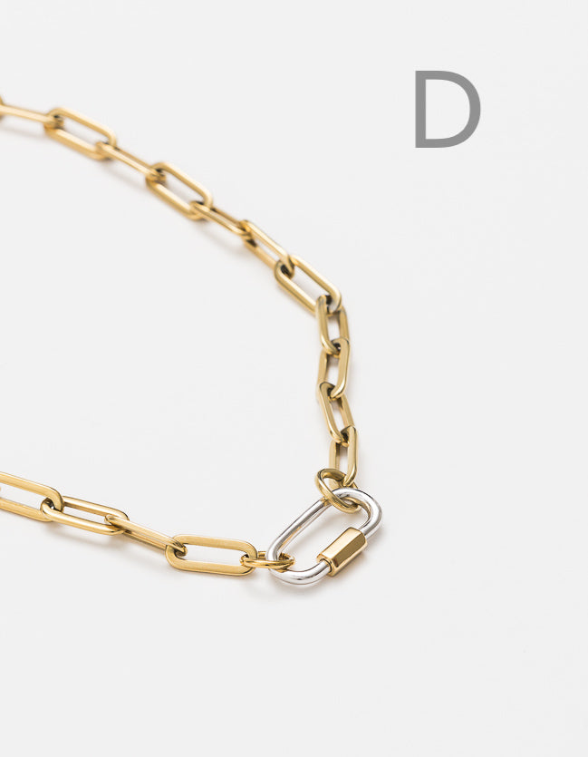 Gold Long Loop Chain Long/Short - add clasp