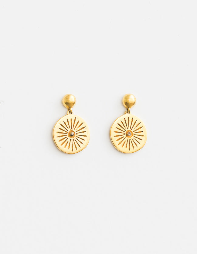 Ashoka Gold Earrings