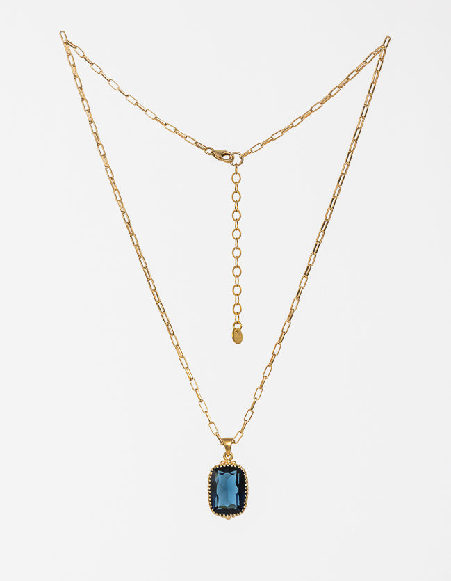 Indigo Gold Necklace