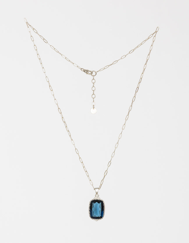 Indigo Silver Necklace