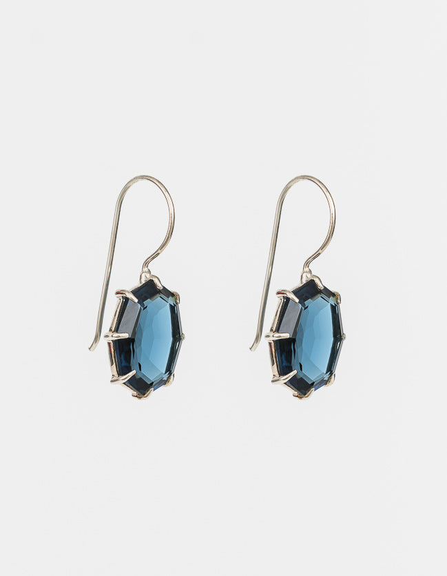 Indigo Drop Silver Earrings