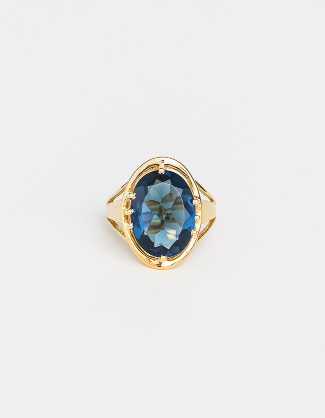 Indigo Gold Ring