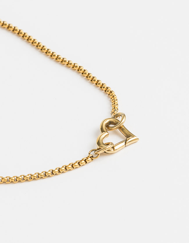 Yellow Gold Heart Clasp Small
