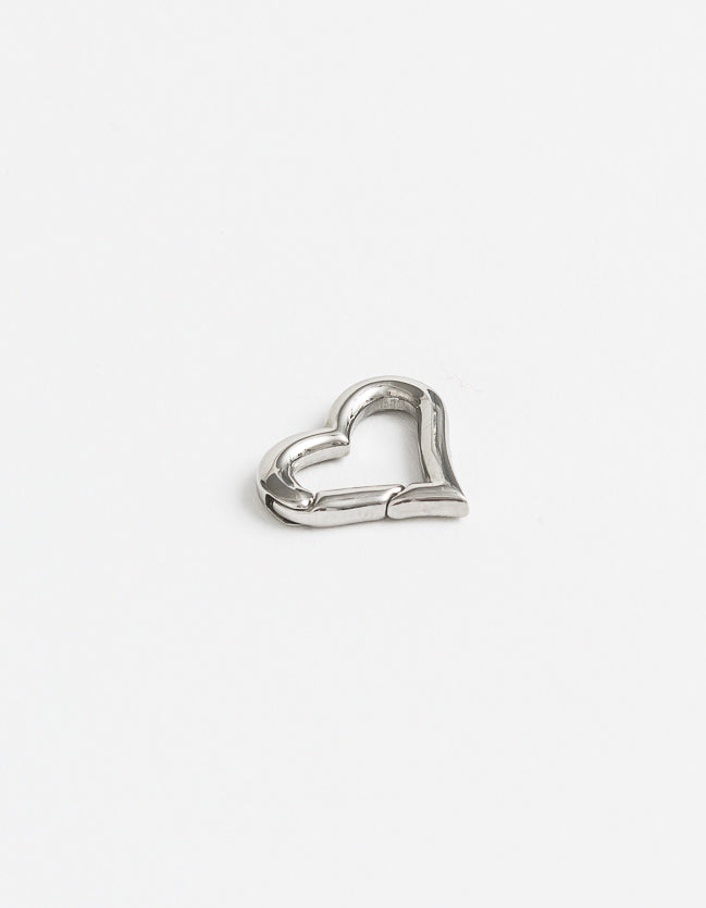 Carrier Lock Silver Heart Small