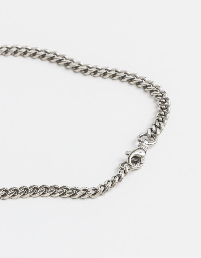 Curb Silver Long Chain Long/Short with clasp