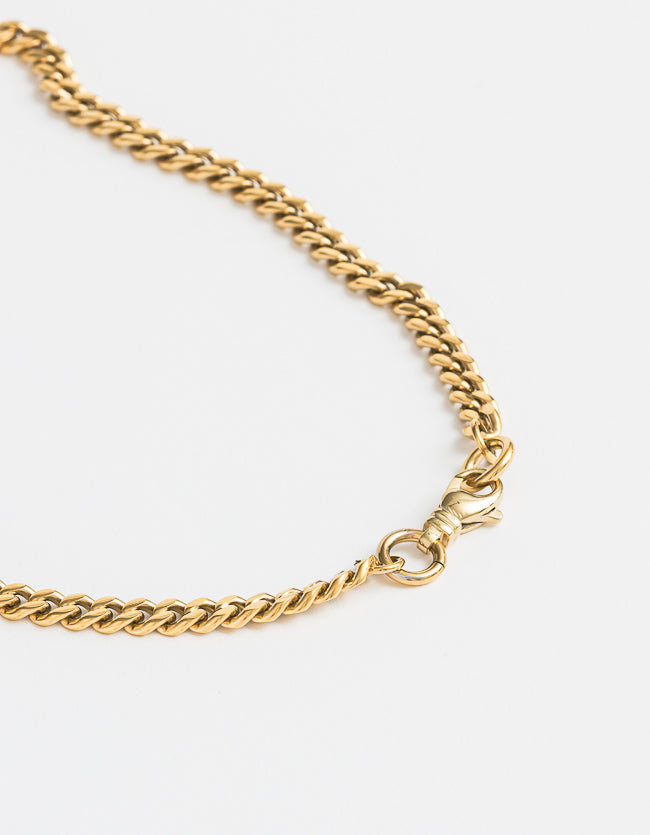 Curb Gold Chain Long/Short with clasp