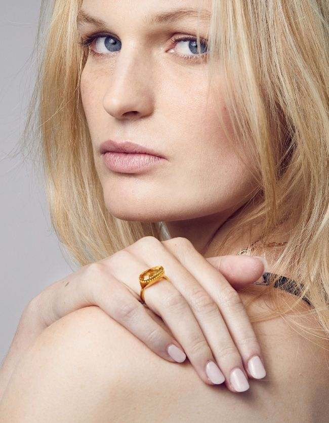 Citrine Gold Curio Ring
