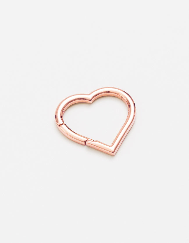 Rose Gold Clasp Large Heart