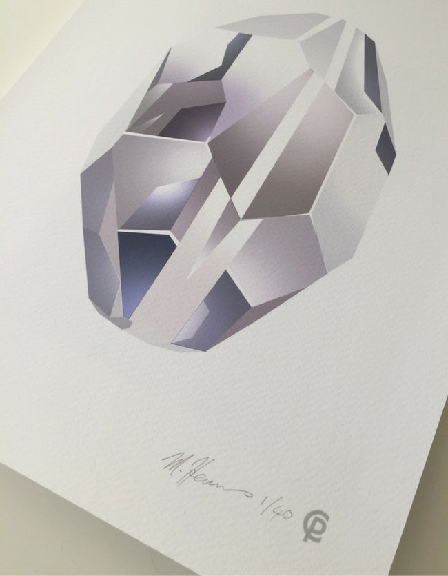 Clear Quartz Art Print