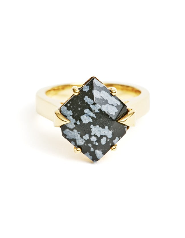 Obsidian Gold Ring