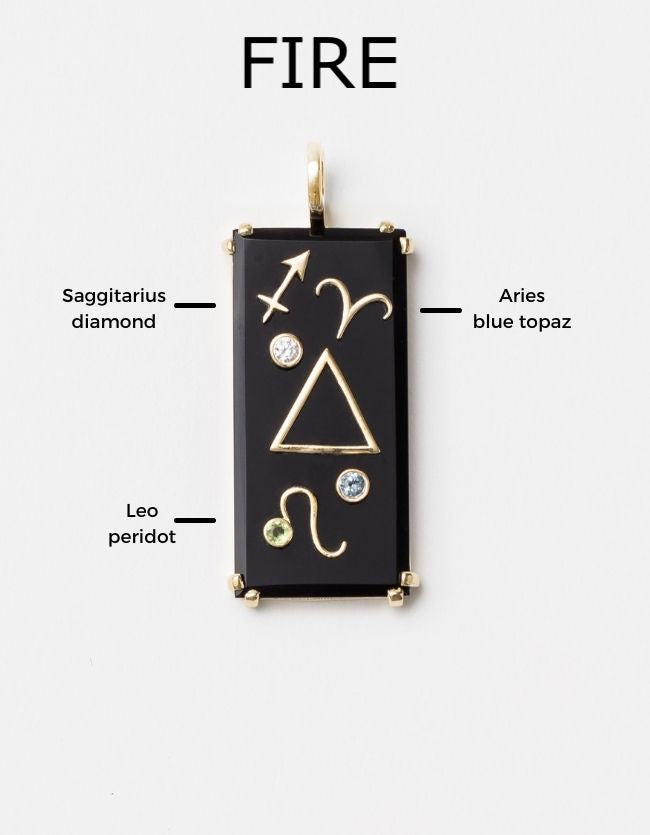 Element Amulet on Paperclip Gold Chain