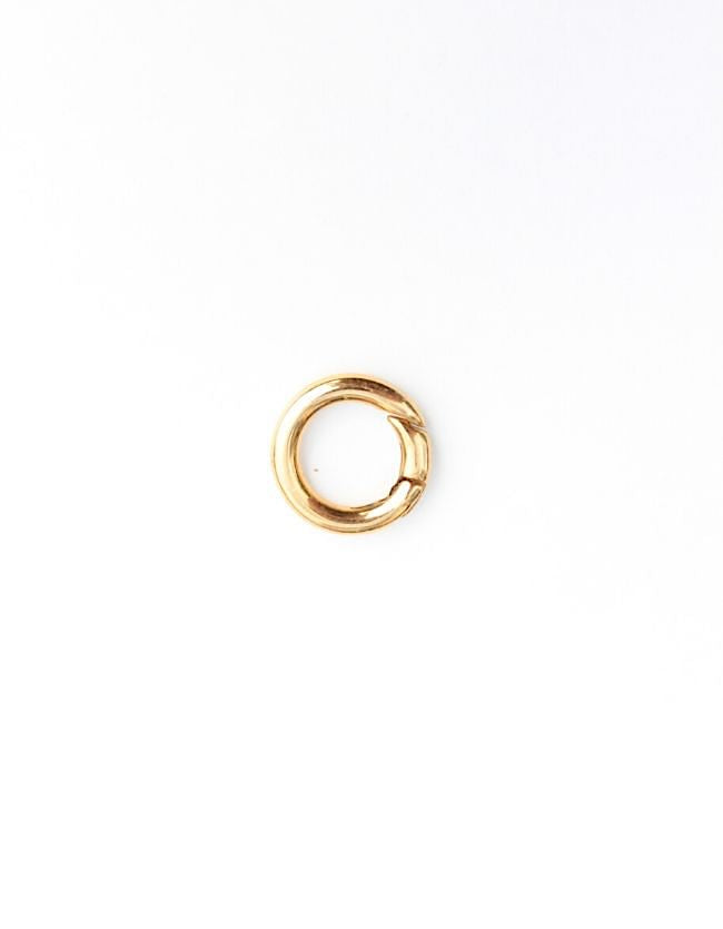 Carrier Lock Gold Ring Small H