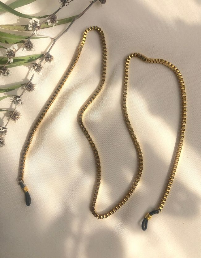 Gold Box Sunglass Chain