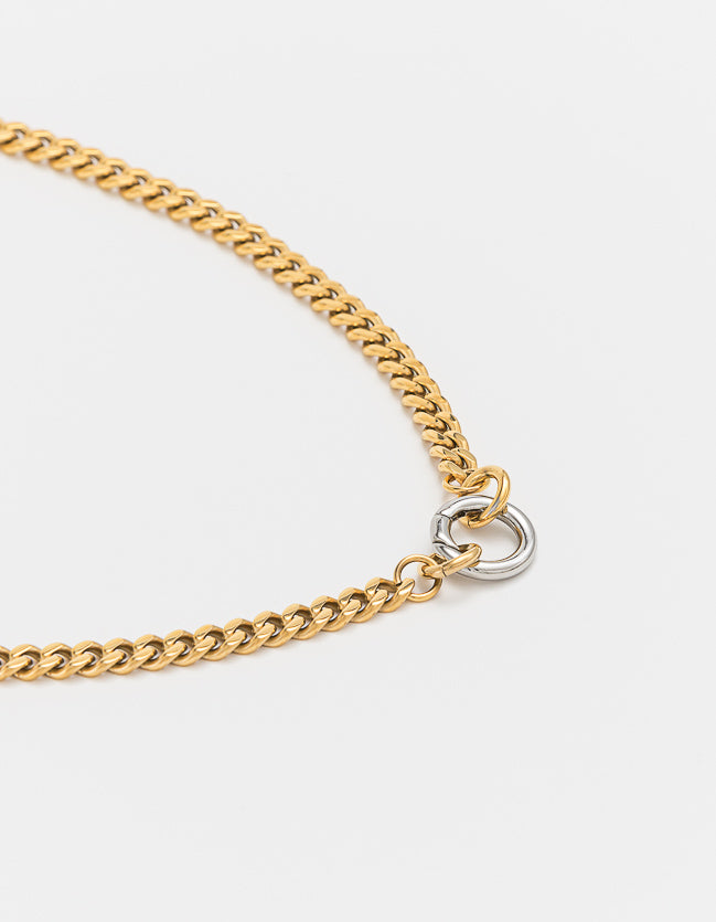 Curb Gold Chain Long/Short - combo clasp