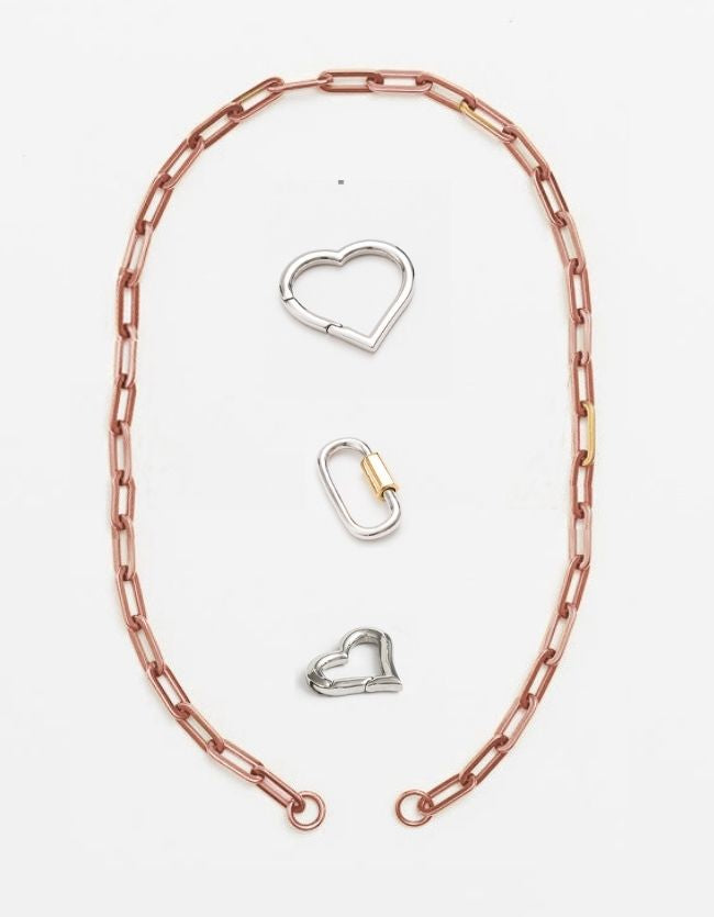 Rose Gold Long Loop Chain Long/Short - combo clasp