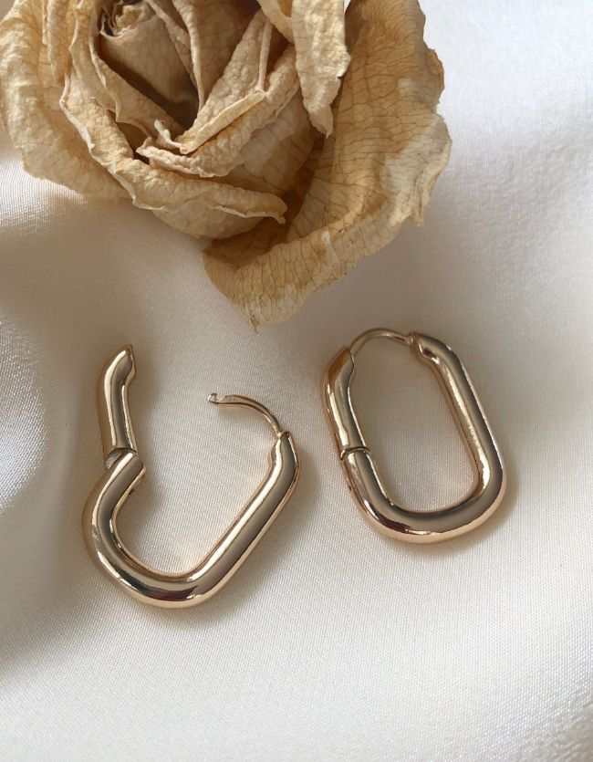 Chunky Hoops Gold