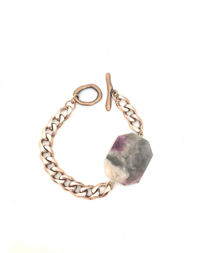 Pink Tourmaline Bracelet Rose Gold