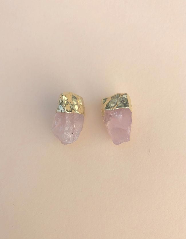 Rose Quartz Nuggets Gold