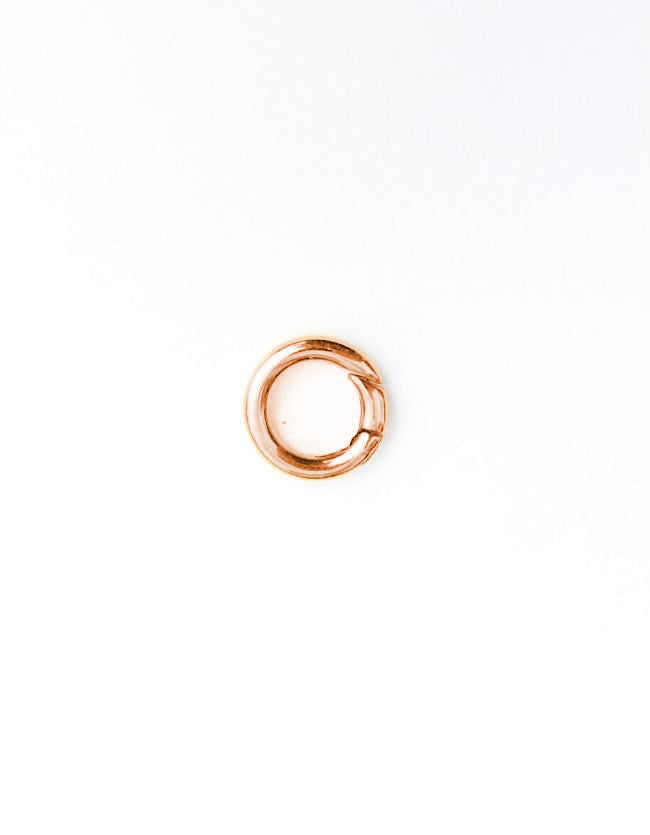 Carrier Lock Rose Gold Ring Small