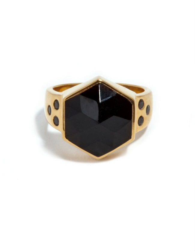 Onyx Gold Ring
