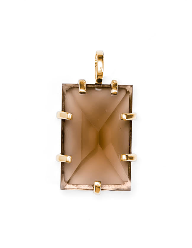 Smokey Quartz Gold Pendant