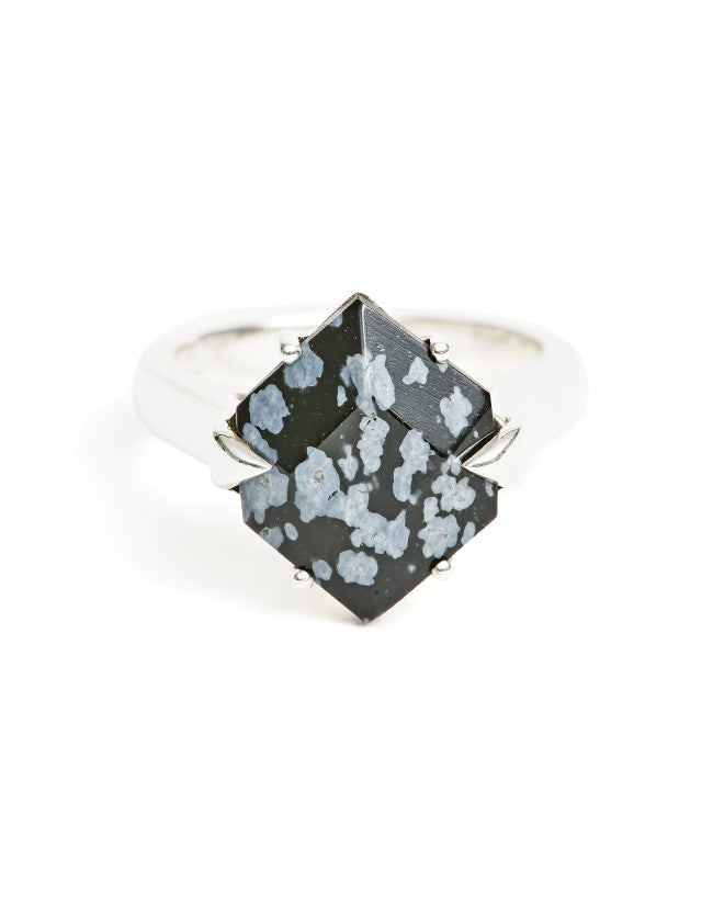 Obsidian Silver Ring
