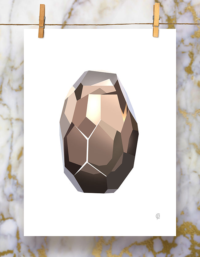 Smokey Quartz Art Print