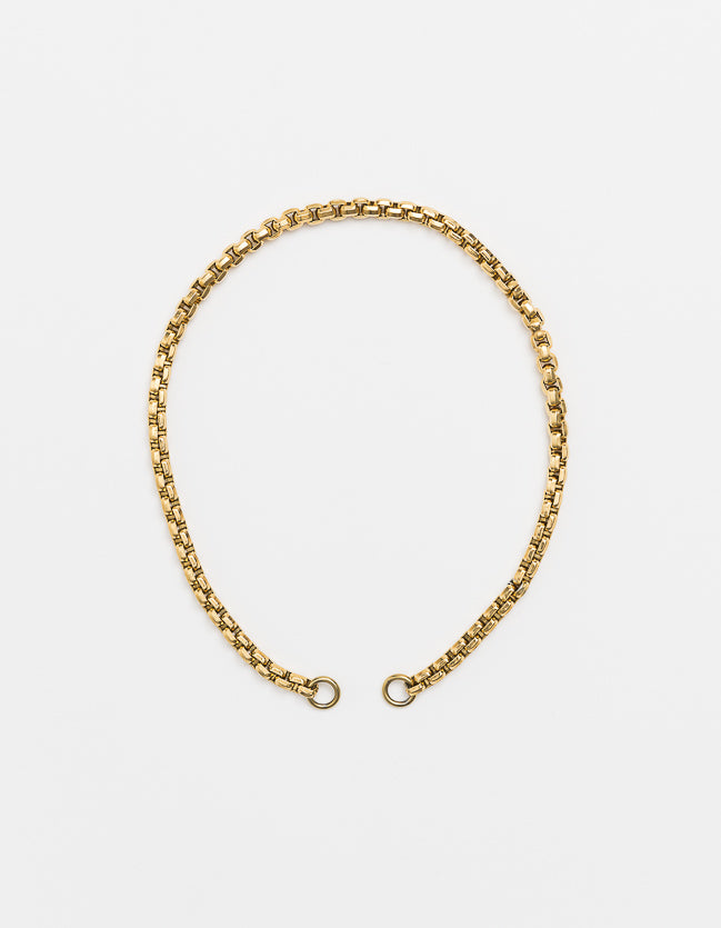 Wide Gold Snake Long/Short - Plain (no clasp)