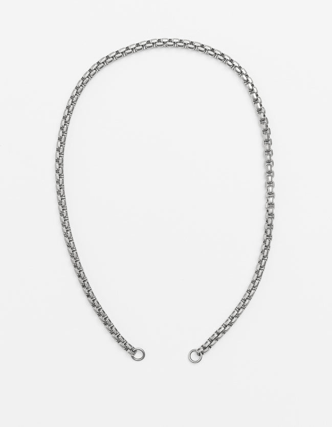 Wide Snake Chain Silver Long/Short - combo clasp