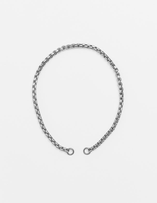 Wide Silver Snake Long/Short - Plain (no clasp)
