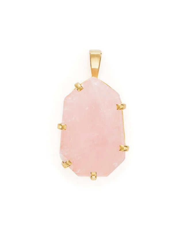 Rose Quartz Gold Amulet
