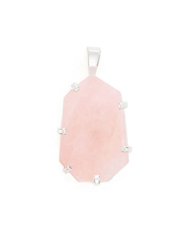 Rose Quartz Silver Amulet
