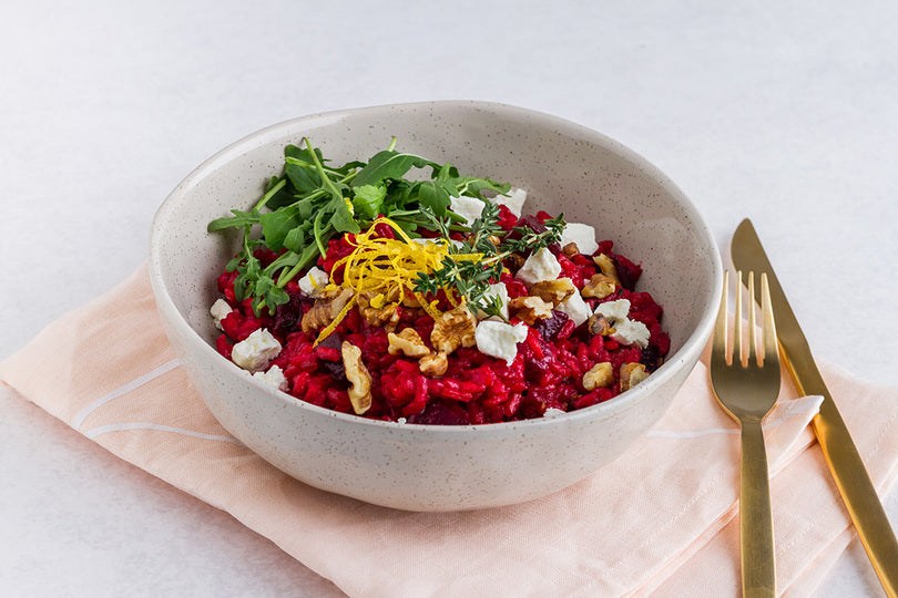 Beetroot Risotto with Goat's Cheese Recipe
