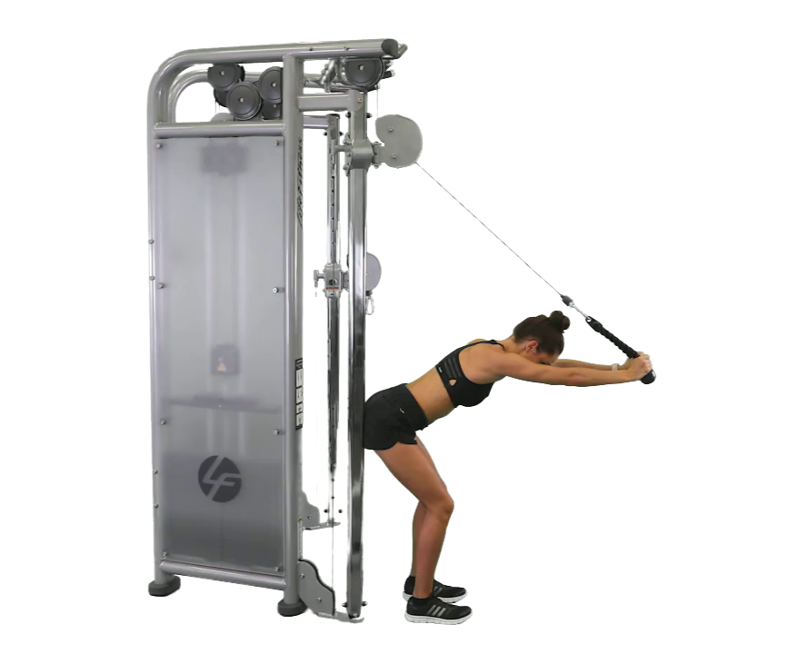 Cable Overhead Tricep Extension - SWEAT