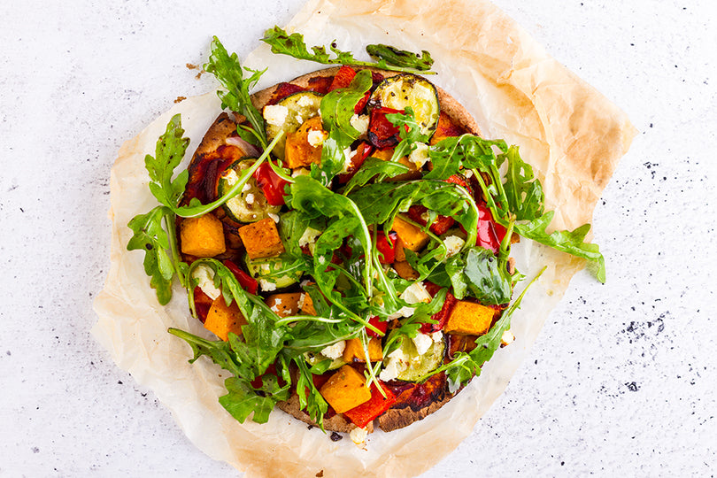 Healthy Roasted Vegetable Pizza Recipe