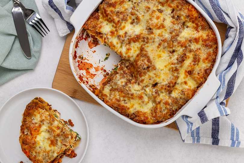Hearty Butternut Squash & Spinach Lasagne Recipe